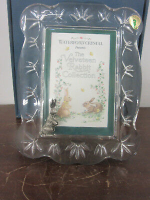 """Baby picture frame by Waterford fine Irish crystal 7""""x10"""" picture 4""""x 6"""" new"""