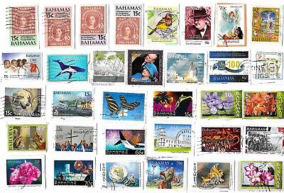 BAHAMAS - Selection of Stamps on Paper - All different