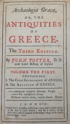 Archaeologia Graeca, or, the Antiquities of Greece By John Potter 1715.