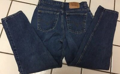 Vintage Levi's 550 Tapered Leg Relaxed fit High Waist Blue Cotton Denim 14 M