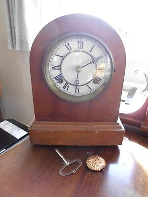 3 Antique Mantle Clocks For Spares / Repair