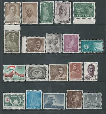 India - Range of Twenty different Single Issue Commemoratives - Un-mounted Mint