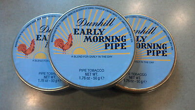 Dunhill Early Morning Pipe Sealed 50 Gram Collectible Tobacco Tin Out of Stock