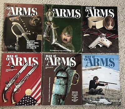 Man At Arms Magazine Gun Collector 1981 Full Year 6 Issues