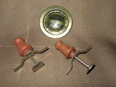 2 X Vintage Viking Expansion Stoppers And A Vacuum Lid For A Jam Jar