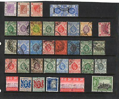Stamps collection British commonwealth Used Hong Kong early periods  #170