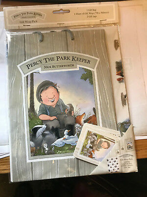 Percy the Park Keeper Collection  Set Nick Butterworth Children Gift  wrap Pack