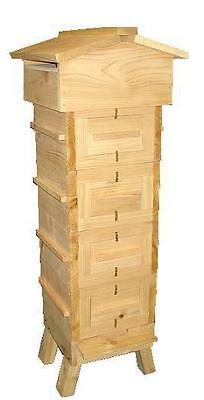 Warre Hive (With Observation Windows) - Cedar - Vertical Top Bar