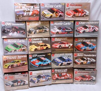 Lot of 19 Vintage AMT ERTL 1:25 Scale Model Nascar Race Car Kits MIB