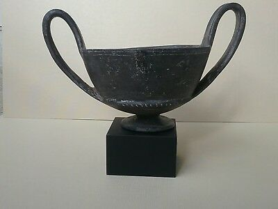 Rare Etruscan 400 B.C Pottery Wine Cup Kantharos