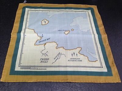 OLOF 1982 Pocket Square - The Map - Printed in England