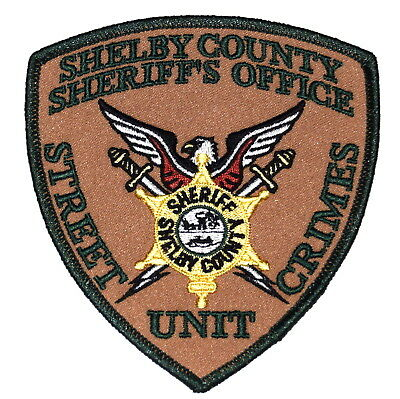 SHELBY COUNTY – STREET CRIMES UNIT - TENNESSEE TN Police Sheriff Patch SWORDS ~