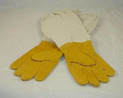 Beekeeping Gloves - Small -  Yellow  Leather - Premium Quality Superior