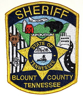 BLOUNT COUNTY TENNESSEE TN Police Sheriff Patch BEAR BARN JET AIRPLANE HIGHWAY ~