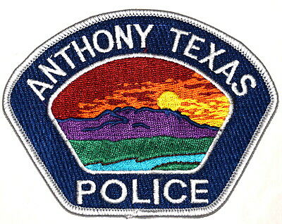 ANTHONY TEXAS TX Police Sheriff Patch RIVER MOUNTAIN SUNRISE ~
