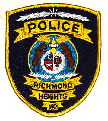 RICHMOND HEIGHTS MISSOURI MO Police Sheriff Patch BEARS CRESCENT MOON SEAL ~