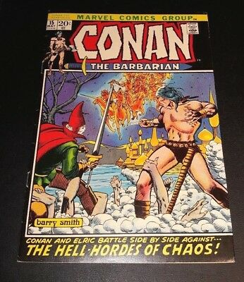 Conan The Barbarian #15!!  Elric!!  Barry Smith Cover And Art!!