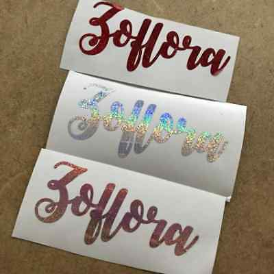 Zoflora Vinyl Decal Rose Silver Red  Sparkly Glitter Effect Crafting Cleaning