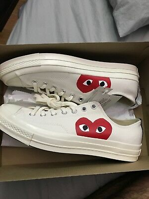 b69fa1990b1a Comme Des Garcons Play Converse size men s 11 women s 13 Brand New ...