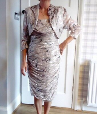 Mother Of The Bride/groom Dress And Jacket Size 12