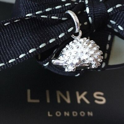 LINKS OF LONDON Sterling Silver Hedgehog Charm BRAND NEW in Pouch