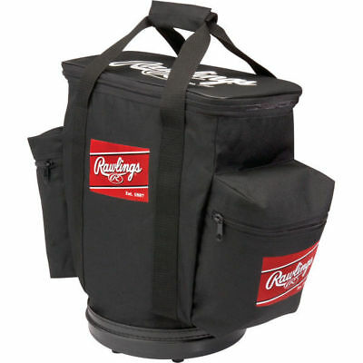 Rawlings Baseball Bucket Ball Bag-Black RBALLB-B