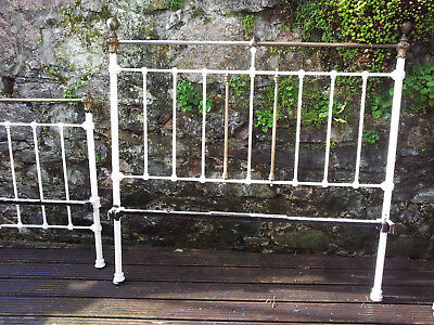 Original Victorian metal iron bed brass sold as spares