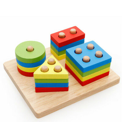 Wooden Toys Educational Toys Color Cognitive Toys Baby Sorter Matching Fashion