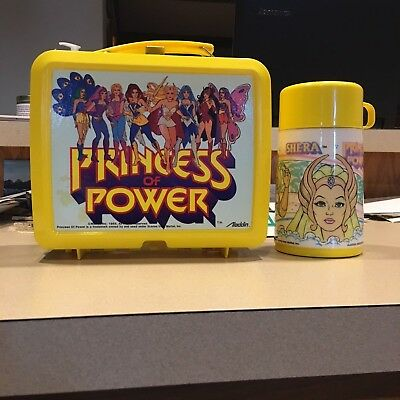 1985 Aladdin Princess of Power Lunch box and Thermos