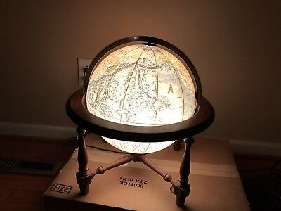 "Vintage Replogle World Vision Series 12"" Light up Topographic Globe Illuminated"