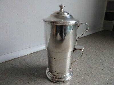 Vintage French Coffee Cup Filter Coffee Brevete Silver Plate 2pc Art Deco RARE