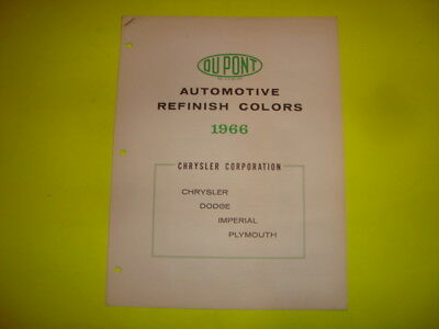 Dupont Automotive Paint Chips / 1966 Chrysler Corporation