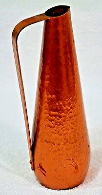 Vintage Wall Germany Copper Pitcher Mid-century Modern hand made metal art (055)
