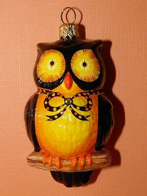 Patricia Breen Worldly and Wise Ornament Black/Orange