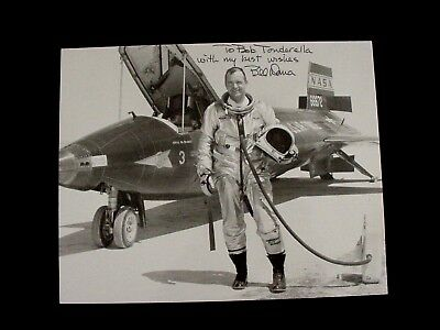 Autographed BILL DANA Photo NASA 1st Employee  X15 Rocket Powered Aircraft Pilot