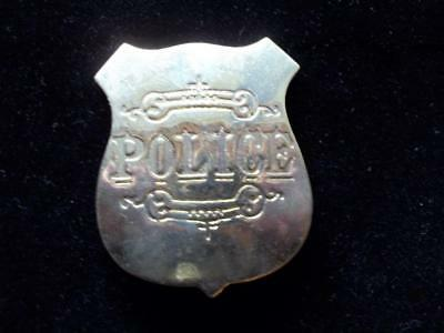 Brass Western Police Badge Shield Law Pin Pinback Western Old West
