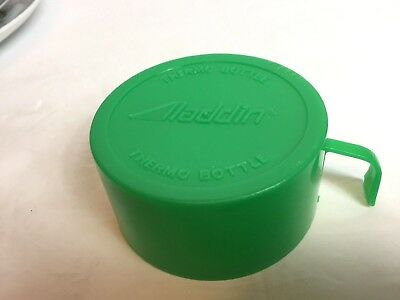 vintage thermo aladdin green lid top