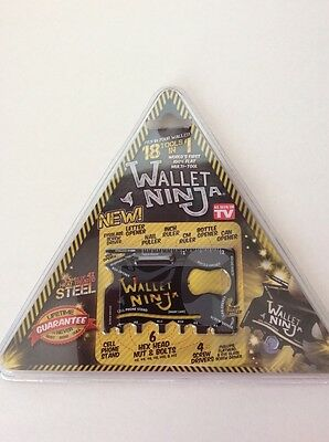 WALLET NINJA 18 in 1 MULTI TOOLS CREDIT CARD SIZE POCKET TOOL ~ NEW