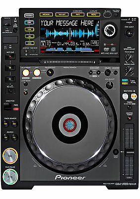 An A5 CDJ 2000 Decks (turntable) Personalised Cake Topper ICING