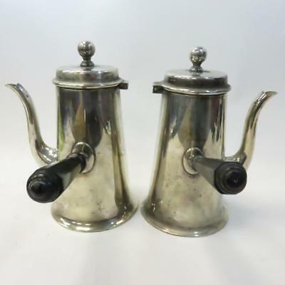 Vintage Two Piece Set - Teapot / Stove Kettle with Side Handles - Stamped EPNS