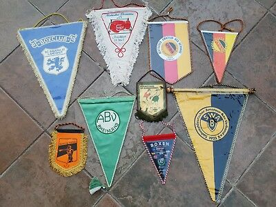 Wimpel Sammlung 9x Boxen Boxsport Boxing pennant lot collection