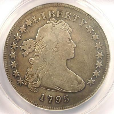 1795 Draped Bust Silver Dollar ($1 Coin, Small Eagle) - ANACS F12 Details!