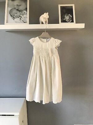 Bnwt next signature ivory christening gown