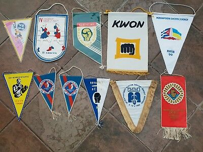 Wimpel Sammlung 11x Boxen Boxsport Boxing pennant lot collection