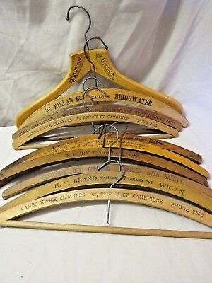 10 Vintage Wood Advertising Coat Hangers