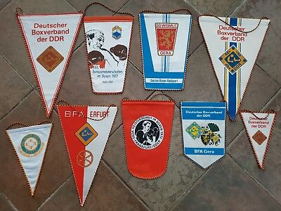 DDR Wimpel Sammlung 9x Boxen Boxsport Boxing pennant lot collection