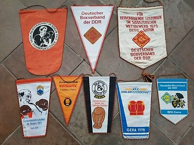 DDR Wimpel Sammlung 8x Boxen Boxsport Boxing pennant lot collection