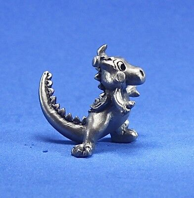 1984 Hudson Pewter figurine baby dragon at play #3150 Retired