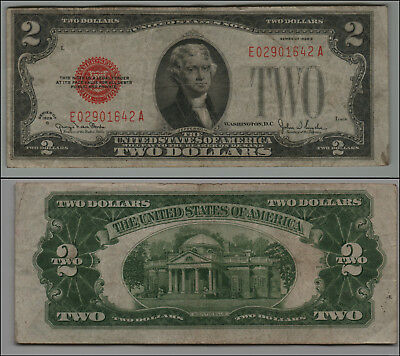 1928G $2 Dollar Bill Old Us Note Legal Tender Paper Money Currency  B-21