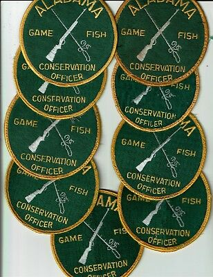 Game & Fish, Conservation Officer, ALABAMA Game Warden  Patches - Set of (9)